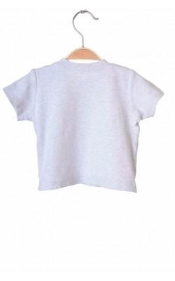 Tricou gri George, imprimeu fata, 3-6 luni