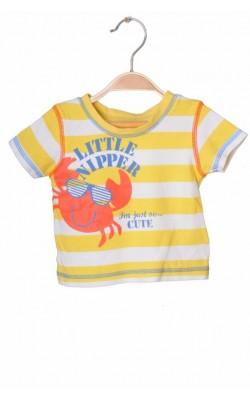 Tricou imprimeu crab George, 0-3 luni, 5.5 kg