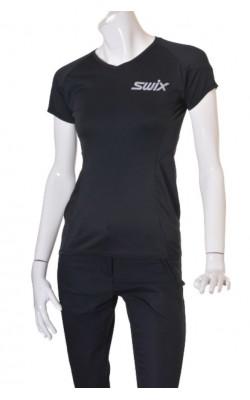 Tricou negru antrenament Swix, marime M