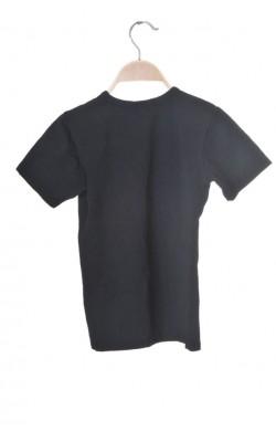 Tricou negru bumbac Skogstad, 9-10 ani