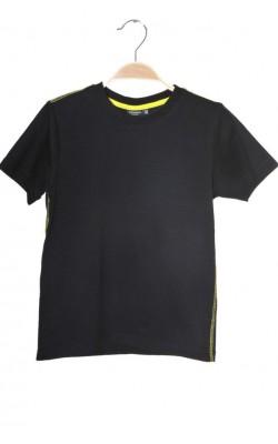 Tricou negru cusaturi verzi Kappahl, 7-8 ani