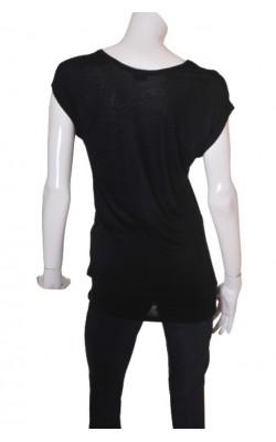 Tricou negru Pieces, marime S