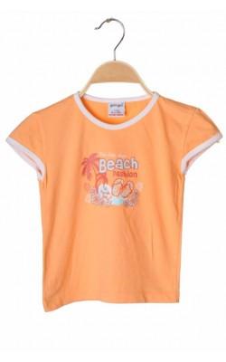 Tricou oranj cu imprimeu Girl 2 girl, 5-6 ani