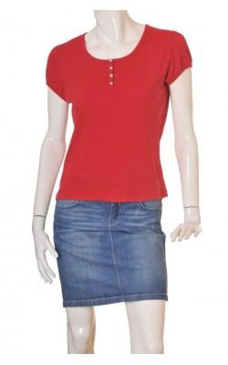 Tricou rosu bumbac Ze-Ze, marime XL