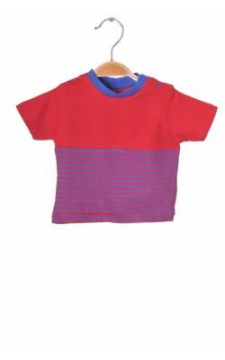 Tricou rosu cu albastru Tu, 3-6 luni