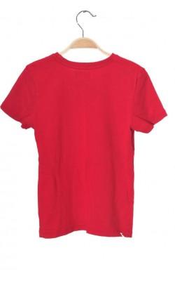 Tricou rosu cu imprimeu Kappahl, 9-10 ani