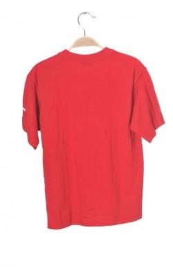 Tricou rosu cu imprimeu You, 8-10 ani