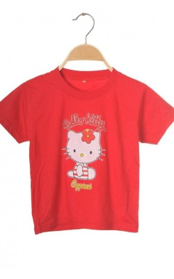 Tricou rosu Hello Kitty, 5-6 ani