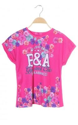 Tricou roz Baci&Abbracci, 11-12 ani