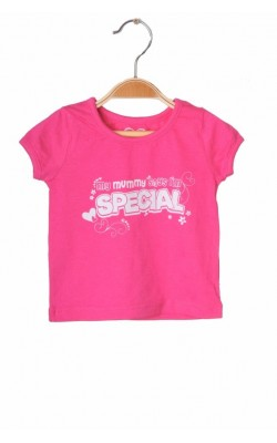 Tricou roz cu imprimeu alb Early Days, 9-12 luni