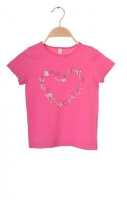 Tricou roz Esprit, 6-7 ani
