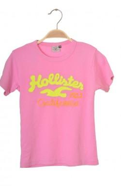 Tricou roz Hollister, 10 ani