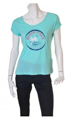 Tricou subtire cu imprimeu Twintip, bumbac si modal, marime M