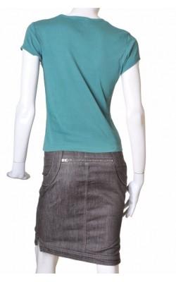 Tricou verde cu imprimeu Esprit, marime 40