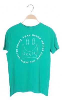Tricou verde cu imprimeu Nkd, 11-12 ani