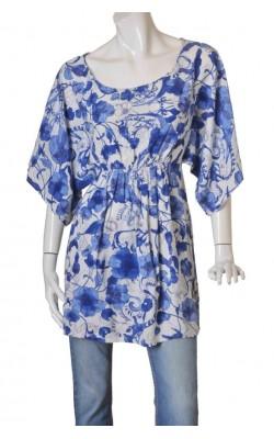 Tunica alba print floral H&M, marime 40