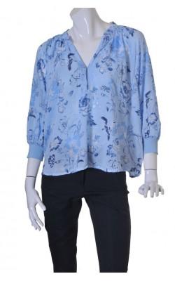 Tunica bleu cu flori H&M, marime 44
