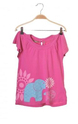 Tunica roz print elefanti Kids by Lindex, 7 ani