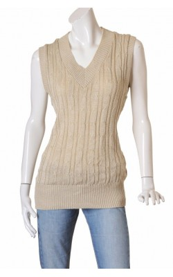Vesta lunga tricot cu fir metalic Lene V., marime L