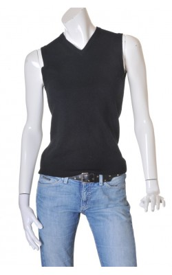 Vesta neagra amestec lana merinos H&M, marime 38