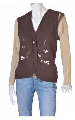 Vesta tricot bumbac Andrea, marime 48