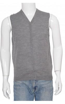 Vesta tricot fin lana pura Zara, marime S
