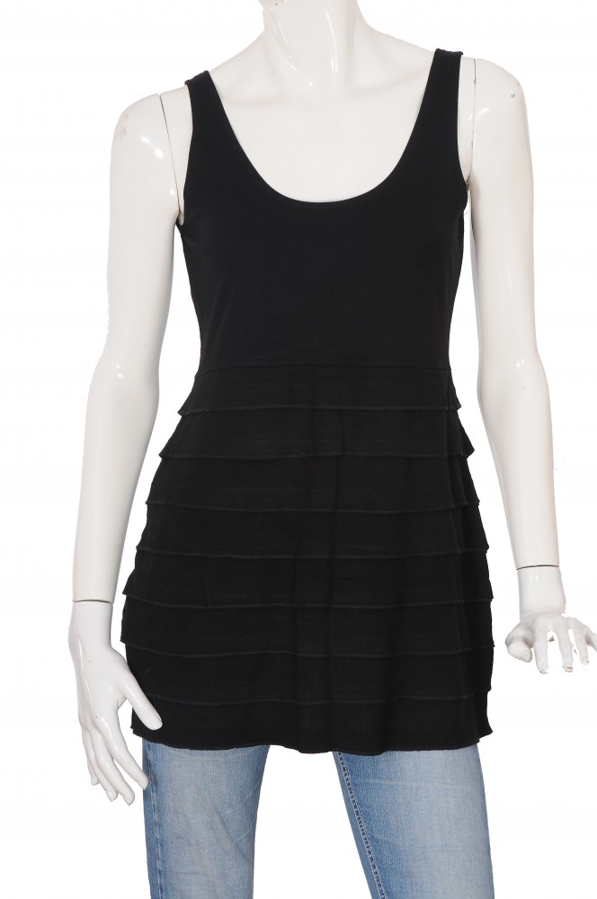Tunica neagra jerse stretch H&M, marime L